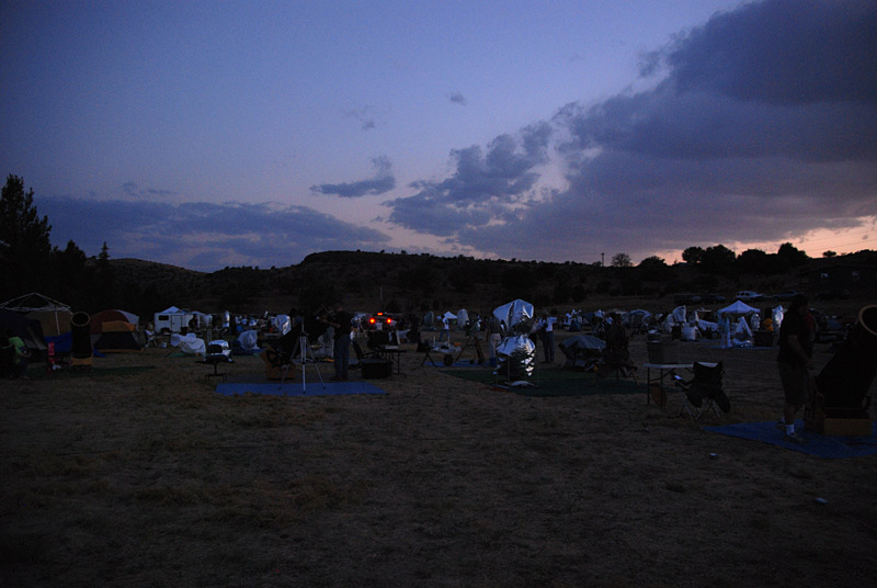 Another view of the observing field at dusk