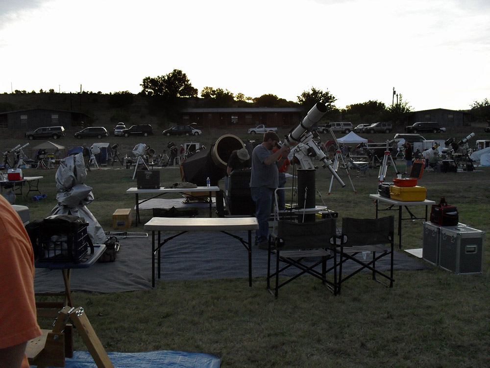 People getting ready for a night's observing