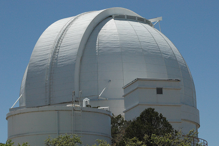 The Harlan J Smith dome at McDonald Observatory