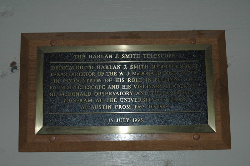 Information in the Harlan J Smith dome