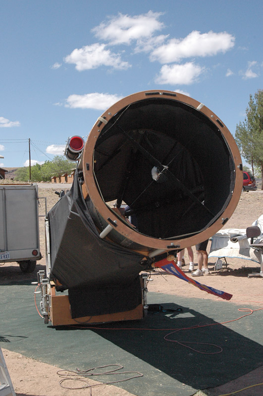 """Larry Mitchell's 36"""" Obsession Dobsonian. I have been fortunate to get to use this a lot during my TSP trips."""