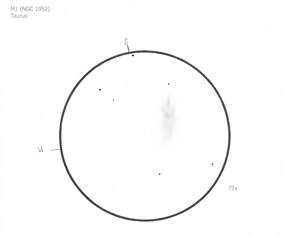 "M1 (NGC 1952)/Tau, 8.75"" f4.5 Newt , 5.8//II/III, W"