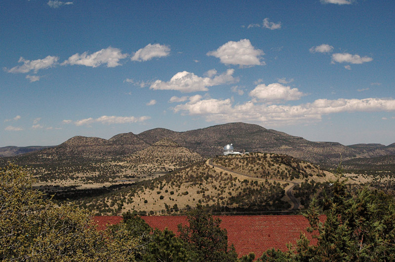 McDonald Observatory - view from Mt Locke across to the Hobby Eberly Telescope