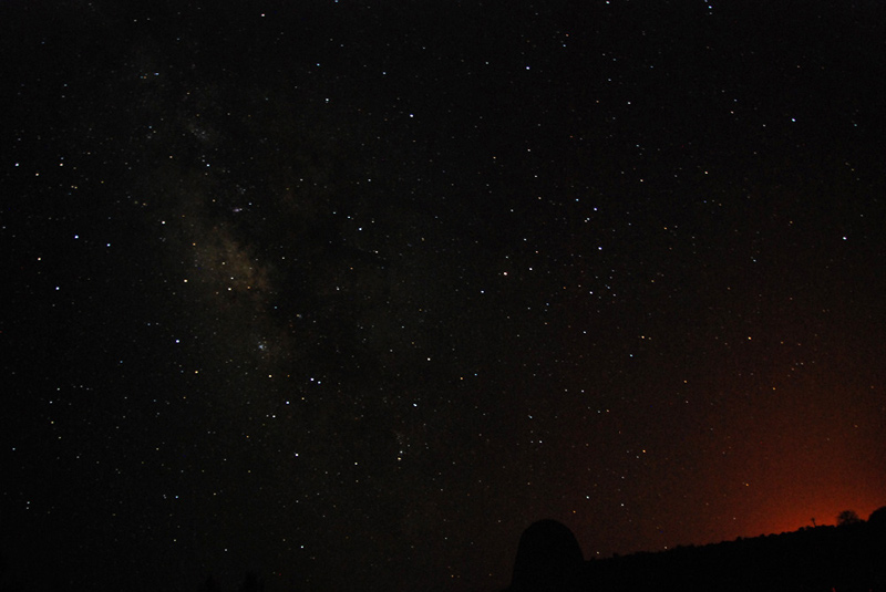 The Milky Way and the fire