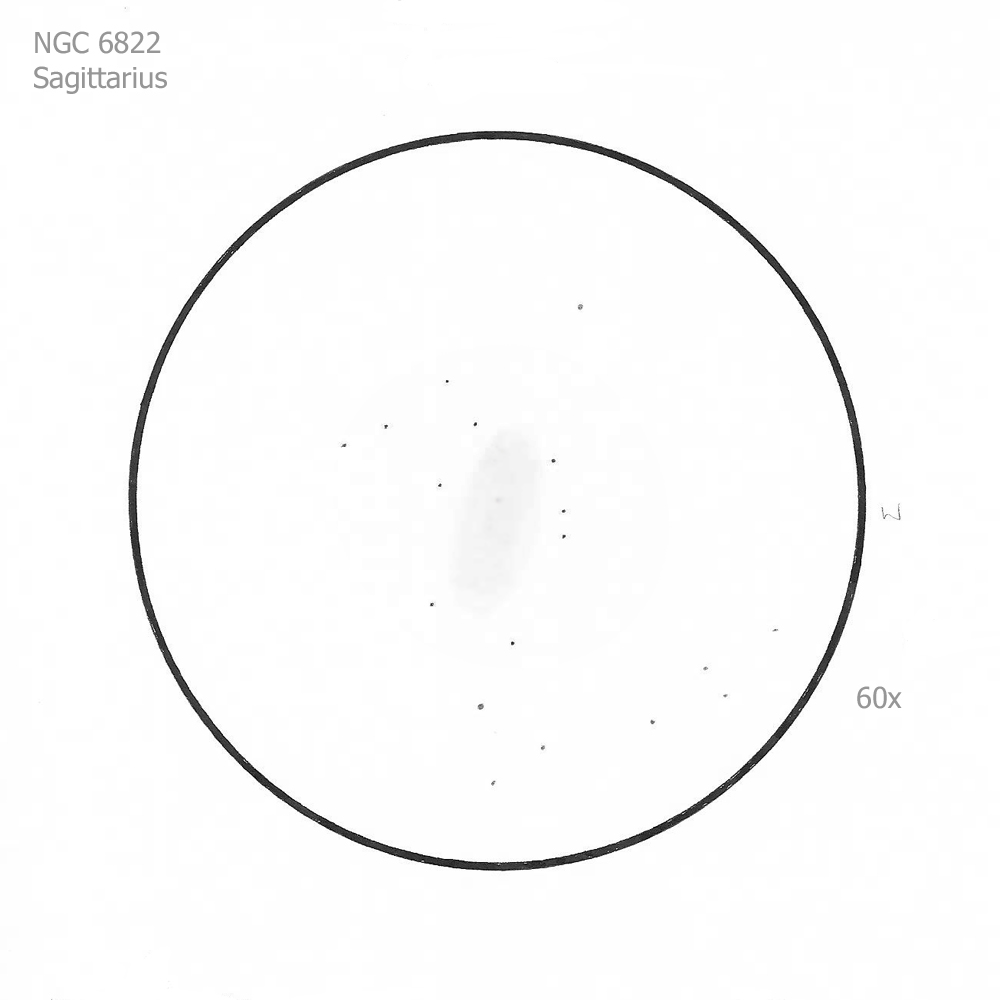 "NGC 6822/Sgr, 20"" Dob, 60x, 7.0/II/II, D"