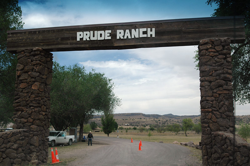 The Prude Ranch gate, made famous in a lot of astronomy magazines and websites