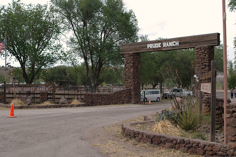 Another view of the Prude Ranch entrance
