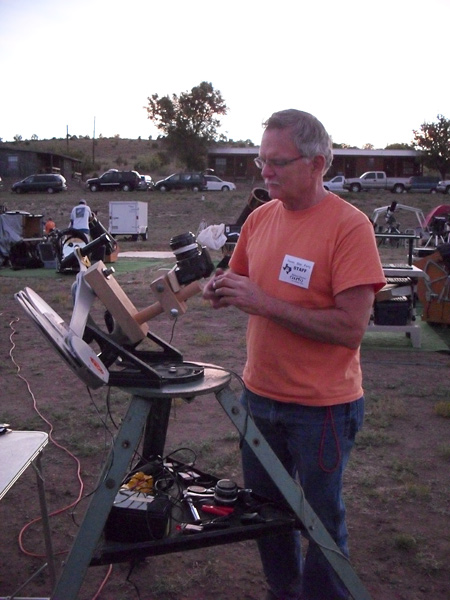Robert Reeves setting up for a night's imaging