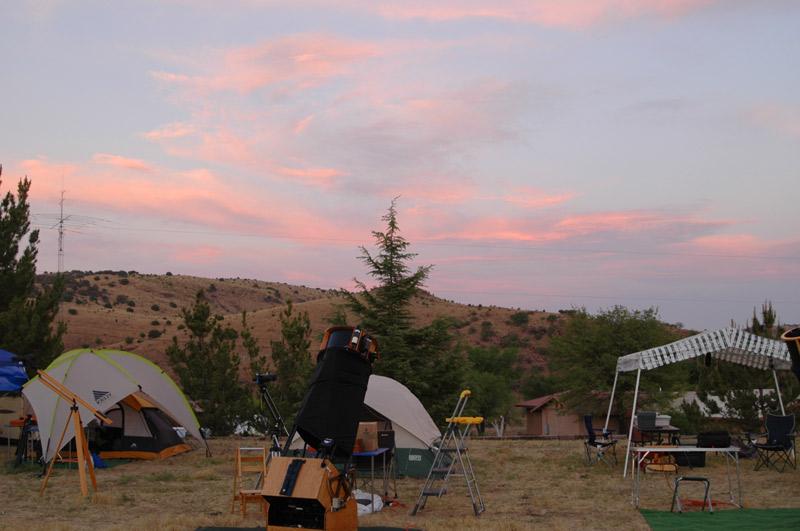 Sunset over the TSP