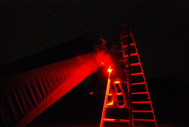 Bob Summerfield on the Yard Scope ladder