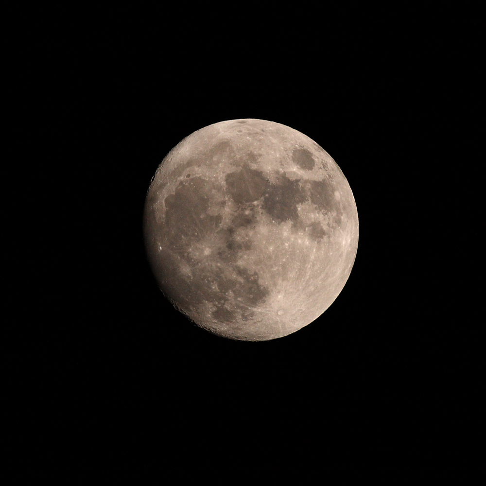 Moon, with my Canon DSLR and 400mm lens