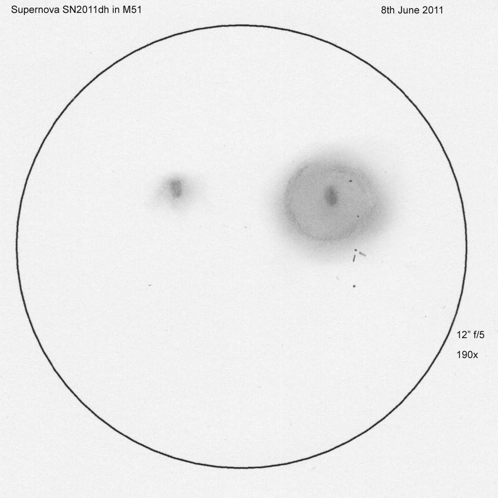 Supernova SN2011dh in M51