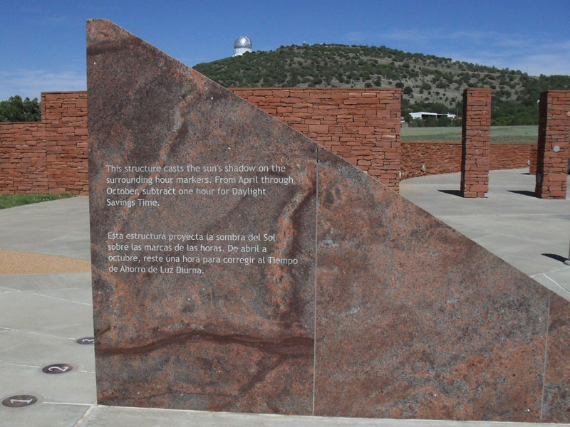 Giant sundial at McDonald Observatory