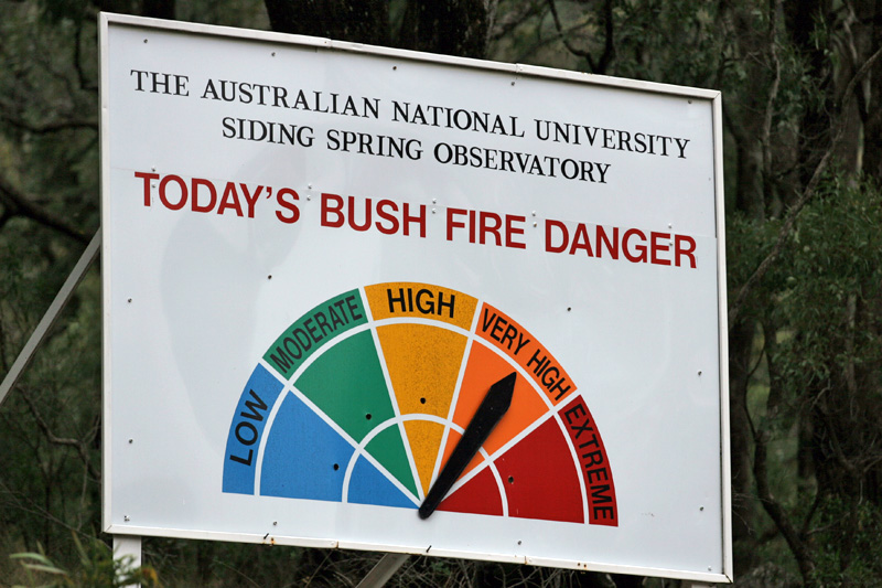 Fire danger notice